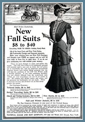 Photograph - Fashion Advertisement From 1903 by Phil Cardamone