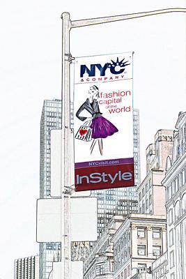 Digital Art - Fashion Capital by Liz Leyden