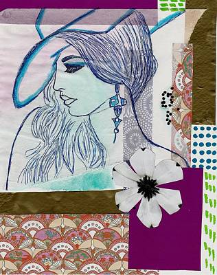Fashion Girl Collage Art Print