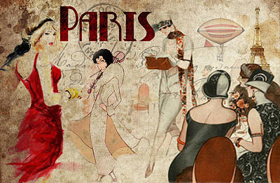 Fashion In Paris Art Print by Greg Sharpe