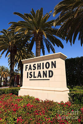 Fashion Island Sign In Orange County California Art Print by Paul Velgos