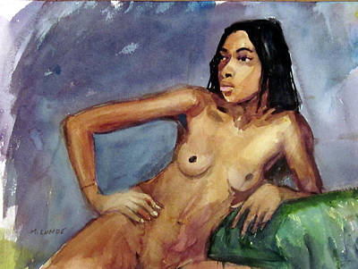 Painting - Fashion Model Nude by Mark Lunde
