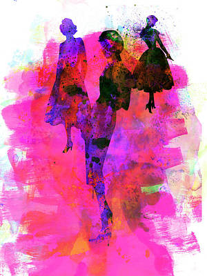 Woman Mixed Media - Fashion Models 1 by Naxart Studio