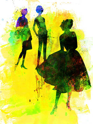 Fashion Models 2 Art Print by Naxart Studio