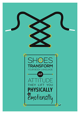 Shoe Digital Art - Christian Louboutin Footwear Designer Typography Quotes Poster by Lab No 4 - The Quotography Department