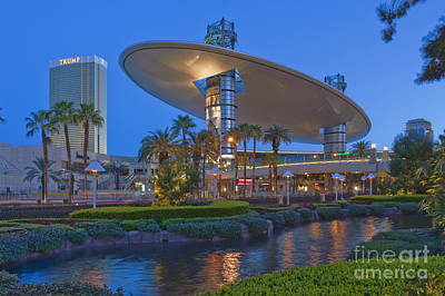 Photograph - Fashion Show Mall Las Vegas Strip Trump Hotel Casino Beautiful Sunrise Nevada by David Zanzinger