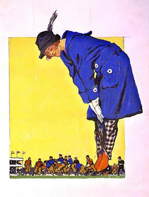 Fashion Versus Football 1900 Art Print by Padre Art