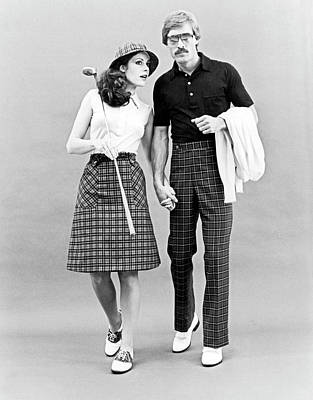 Photograph - Fashionable Couple Golf Attire by Underwood Archives