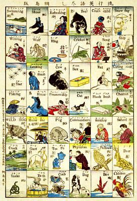 Translate Digital Art - Fashionable Melange Of English Words 1887 by Georgia Fowler