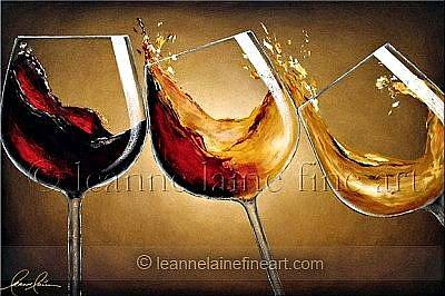 Wine Rack Painting - Fashionably Yours Wine Art Painting by Leanne Laine