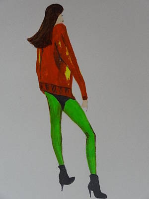 Painting - Fashionista 100 by Nancy Fillip
