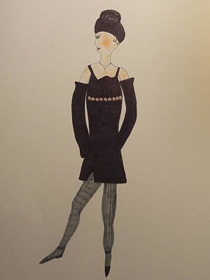 Drawing - Fashionista Ninety-eight by Nancy Fillip
