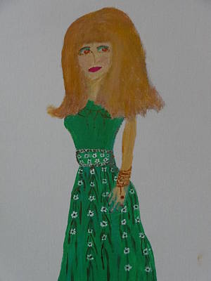 Drawing - Fashionista One Hundred Three by Nancy Fillip