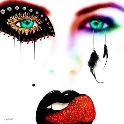 Fashionista Soft Rainbow Art Print