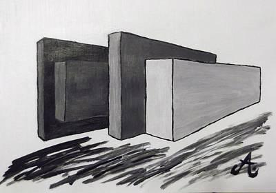 Mauer Painting - Fassade by Ariane Hessenius