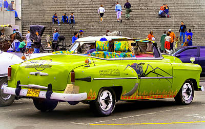 Fast And Furious In Cuba Art Print by Karen Wiles
