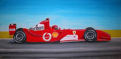 Painting - Fast Ferrari by Stacy C Bottoms