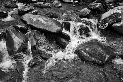 Photograph - Fast Flow Bw by Christi Kraft