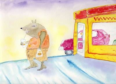 Painting - Fast Food Rat by Jim Taylor