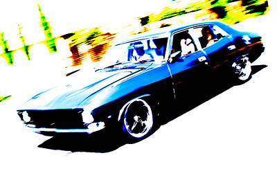 Autofocus Photograph - Fast Ford Falcon by Phil 'motography' Clark