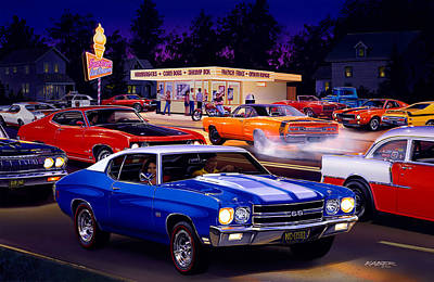 Chevy Photograph - Fast Freds by Bruce Kaiser