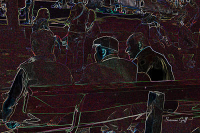 Park Benches Digital Art - Fast Friends by Suzanne Gaff