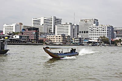 Longtail Wall Art - Photograph - Fast Longtail Boat Taxi by Niels Busch