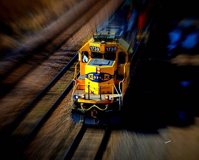 Fast Moving Train Art Print by Karen Kersey