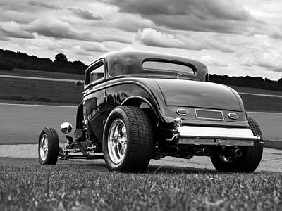 Ford Lowrider Photograph - Fast N Loud - Black And White by Gill Billington