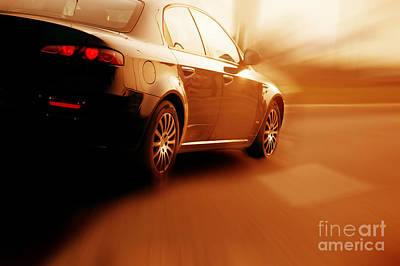 Accelerate Photograph - Fast Sport Car by Michal Bednarek