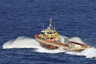 Photograph - Fast Supply Vessel Underway by Bradford Martin