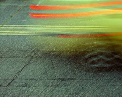 Fast Taxi Art Print by Patricia Strand