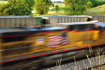 Art Print featuring the photograph Fast Train by Bill Kesler