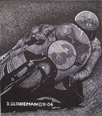 Faster Art Print by Denis Gloudeman