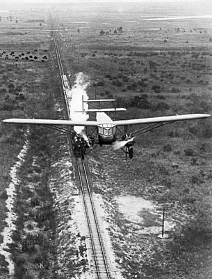 Passenger Plane Photograph - Fastest Transportations Meet by Underwood Archives