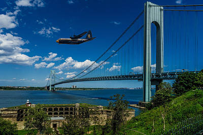 Photograph - Fat Albert Over The Verrazano Bridge by Chris Lord