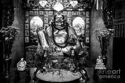 Hand Of Gold Photograph - Fat Happy Buddha by Dean Harte