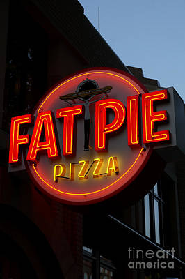 Photograph - Fat Pie Pizza Sign Bellingham by John  Mitchell