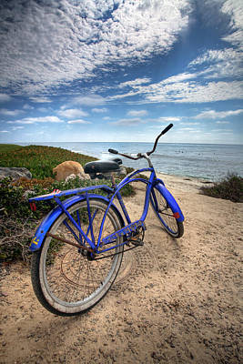 California Ocean Photograph - Fat Tire by Peter Tellone