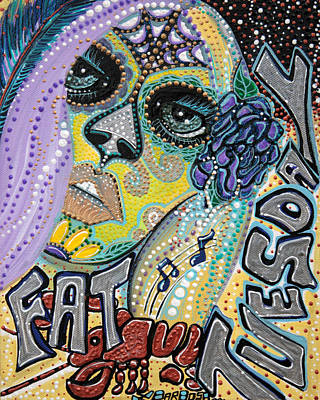 Mardi Gras Painting - Fat Tuesday by Laura Barbosa