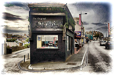 Photograph - Fat Willy's Surf Shack - Newquay by Pennie McCracken