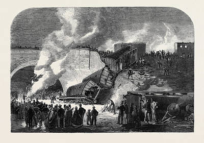 7 Train Drawing - Fatal Railway Accident At Kentish Town On The North by English School