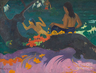 Gauguin Painting - Fatata Te Miti  by Paul Gauguin