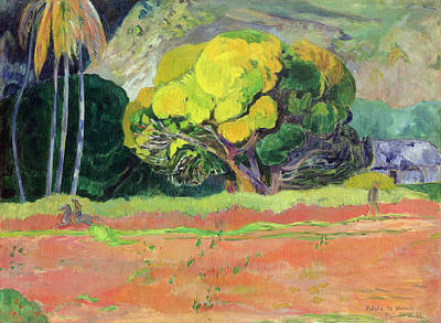 Fatata Te Moua Art Print by Paul Gauguin