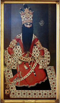 Aristocrat Photograph - Fath 'ali Shah. King Of Persia 1797-1834 by British Library