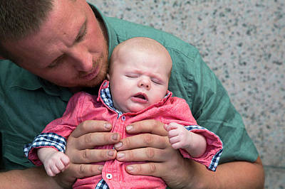 Adam Photograph - Father And Baby Son by Jim West