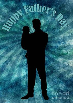 Digital Art - Father And Child Father's Day by JH Designs