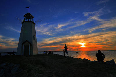 Sunset Photograph - Father And Son by Franklyn Cabahug