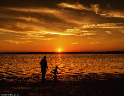 Art Print featuring the photograph Father And Son by Linda Karlin