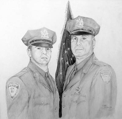 Drawing - Father And Son by Lori Ippolito